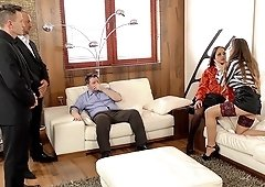 Mind-blowing lesbian rimjob with a luscious milf Cathy Heaven