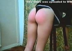 black panties wedgie spanking
