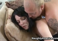 Face cumshot sex video featuring Claudia Adkins and Claudia Atkins