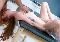 Nurse with hairy pussy, deep pumped by a hot patient