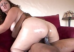 Chick with a big booty Sonia Blaze bends over for a black man