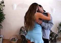 Two horny studs pound sweet long haired mommy Rita Faltoyano tough