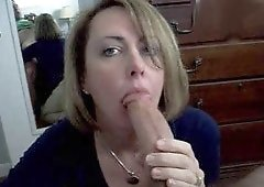 Alluring Blond Wifey Playing The Flesh Flute