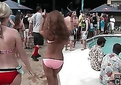 Bikinis look hot on the amateur spring break girls