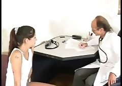Doctor examines naughty teen
