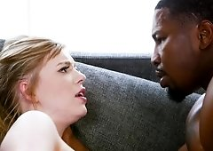 Pure white girl gives her pussy to a black hunk