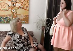 Young Sarah Jane enjoys an older woman
