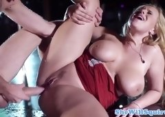 Busty blonde pornstar Angel Wicky can't stop squirting like crazy