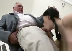 Steamy old and young action with fat dude banging sweetheart