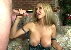 Classy buxomy latina experienced lady Hot Wife Rio gives a magic blowjob
