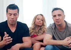 Corinna Blake seduces a couple of men for a threesome