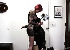 All tattooed tall and busty punk slut Anna Bell Peaks gets hammered doggy