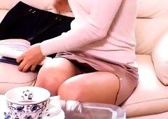 Exotic Japanese slut Jun Kiyomi in Amazing Close-up, POV JAV video