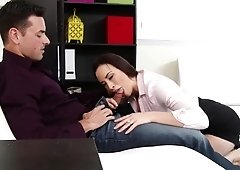 Hotwife Chanel Preston takes it in the ass from her coworker during his break