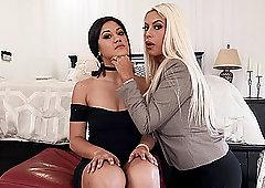 High class lesbian mature couple Bridgette B and Kendra Spade