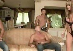 Paige Ashley fuck 3 man