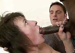Real wild MILF in black stockings Zazala Coquine gonna take double penetration
