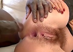 Black dude fucks the beautiful tight Valentina in her delicious ass