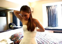 Home video of a bride getting slammed hard on her wedding day