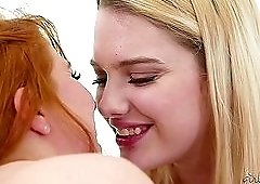 Penny Pax plays with two pretty lesbian blondes