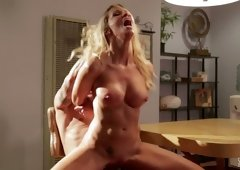 Stunning milf Jessica Drake seduces handsome tattooed dude