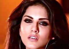 Big tits pornstar beauty Sunny Leone masturbates solo