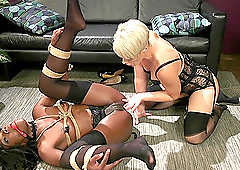 Hardcore lesbian interacial toy play with Helena Locke and Ana Foxxx