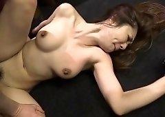 Busty Asian slut enjoys a frenzy of sex toys and meat sticks
