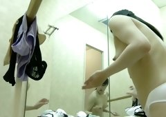 Pretty teen girl in dressing room ass and tits hot view