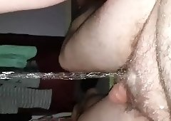 Bbw wife pissing on me
