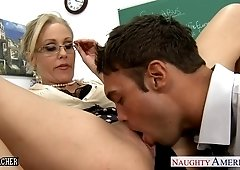 Lucky Student Licks Tempting Pussy Of His Mature Buxom Teacher
