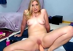 Adorable Milf Inserts Huge Dildo In Her Tasty Ass