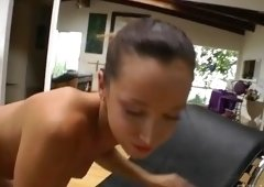 Winsome dusky student Jada Stevens featuring hot toy fucking video