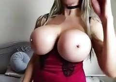 Hot milf with big fake tits 3