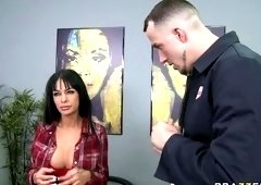 Office porn video featuring Angelina Valentine and Chris Strokes