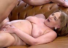 Granny gets a good fucking and a hot facial cumshot