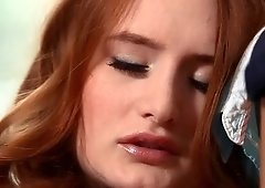 Denisa Heaven masturbates herself to a loud moaning orgasm