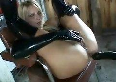 Sexy Blonde Latex Fuck