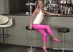 Charlotte - Pink Latex Trousers
