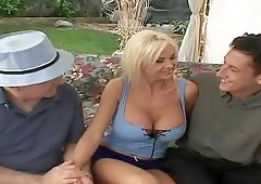 Lori Pleasure is a big boobed vixen, who has a completely shaved, pierced pussy.