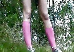 Girls who pee outdoors