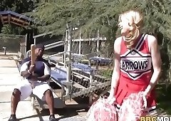 Cheerleader Allie James and Erica Lauren Treats BBC