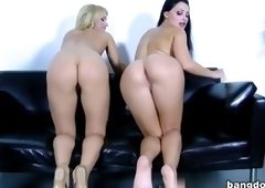 Huge boobs sex video featuring Aletta Ocean and Aleska Diamond