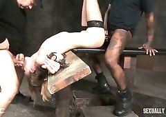 Pain slut Mona Wales enjoys being used like a piece of fuck meat