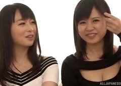 Hatsuki Nozomi and her friend were surprised by the length of this rod