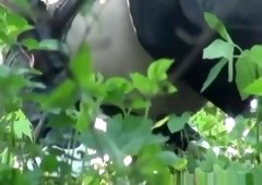 Voyeur catches two teens pissing in the bushes