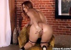 Admirable foxy babe Karlie Montana masturbate on camera