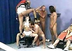Dirty gym girls take three each