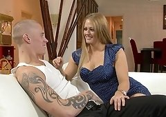 Holly White bend over having her anal pounded in ffm