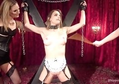 Mona Wales & Cherry Torn & Sally Snatch in House Slaves' Revenge: Insatiable Painslut Gets Beaten And Fucked - WhippedAss